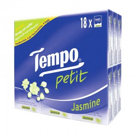 Tempo Petit Mini Pocket Hanky-Jasmine 18 Packs