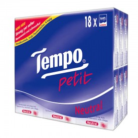 Tempo Petit Mini Pocket Hanky-Neutral 18 Packs