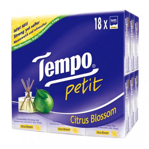 TEMPO(テンポ) ハンカチ 柑橘花 18個