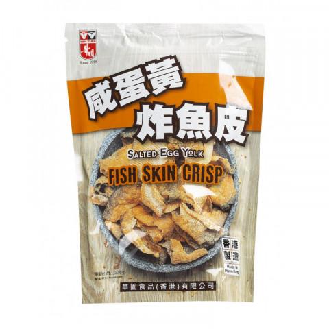 華園 咸蛋黃炸魚皮 100克
