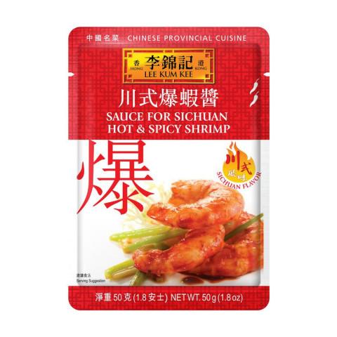 Lee Kum Kee Sauce For Sichuan Hot & Spicy Shrimp 50g