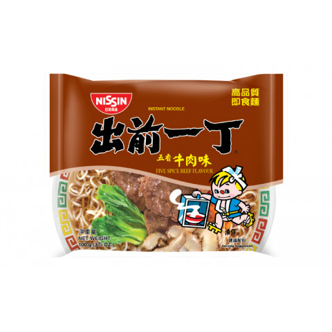 Nissin Demae Iccho Instant Noodle Five Spice Beef Flavour 100g x 9 packs