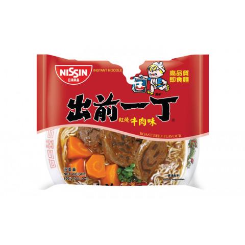 日清 即席麺 出前一丁 煮込み牛肉味 100g × 9袋