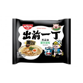 Nissin Demae Iccho Instant Noodle Black Garlic Oil Tonkotsu  Flavour 100g x 9 packs