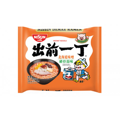 日清 即席麺 出前一丁 北海道みそ豚骨スープ 100g × 9袋