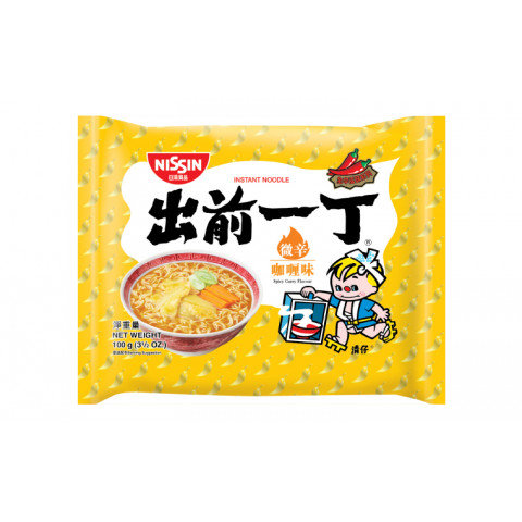 Nissin Demae Iccho Instant Noodle Spicy Curry Flavour 100g