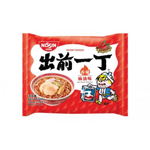 日清 即席麺 出前一丁 スパイシーゴマ油 100g × 9袋