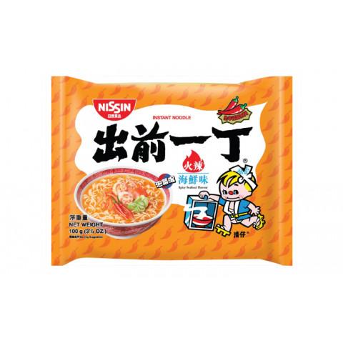 日清 即席麺 出前一丁 辛味シーフード 100g × 9袋