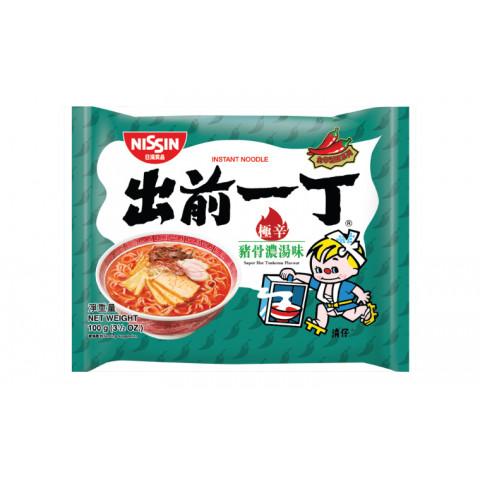 日清 即席麺 出前一丁 激辛豚骨スープ 100g