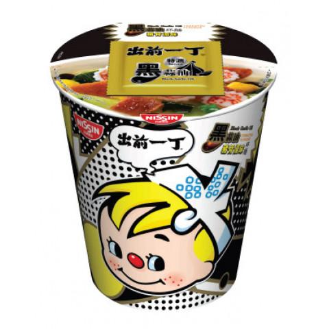 日清 カップ麺 出前一丁 黒ニンニク豚骨スープ 72g × 4コ