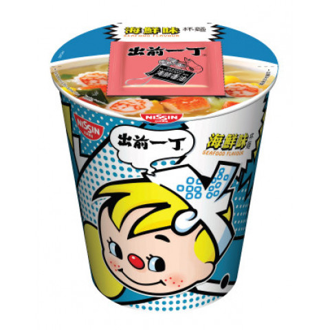 Nissin Demae Iccho Cup Seafood Flavour 72g x 4 pieces