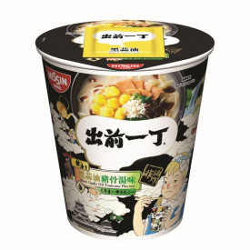 Nissin Demae Iccho Non Fried Cup Black Garlic Oil Tonkotsu Flavour 80g x 3 pieces