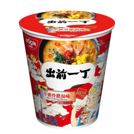 Nissin Demae Iccho Non Fried Cup Spicy Tonkotsu Flavour 79g x 3 pieces