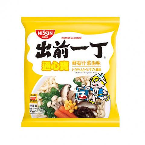 Nissin Demae Iccho Macaroni Mushroom with Vegetables Flavour 90g x 3 packs