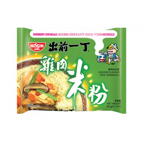 Nissin Demae Iccho Instant Rice Vermicelli Chicken Flavour 65g x 3 packs