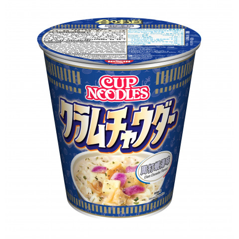Nissin Cup Noodles Regular Cup Clam Chowder Flavour 75g x 4 pieces
