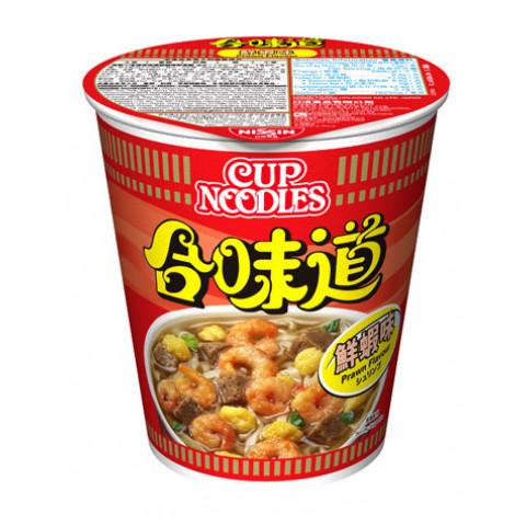 Nissin Cup Noodles Regular Cup Prawn Flavour 75g
