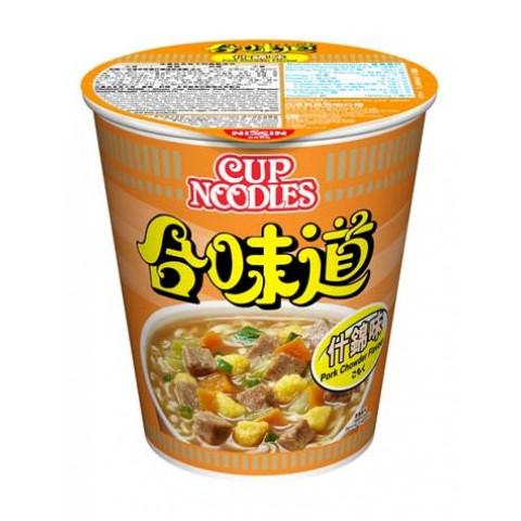 Nissin Cup Noodles Regular Cup Pork Chowder Flavour 75g x 4 pieces
