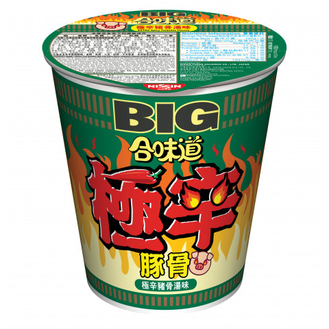 Nissin Cup Noodles Big Cup Extra Spicy Tonkotsu Flavour 107g x 2 pieces