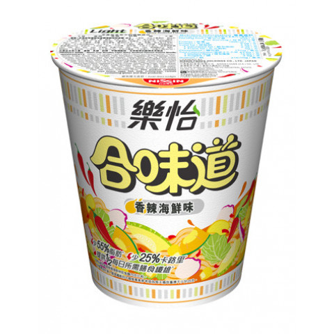 Nissin Cup Noodles Light Spicy Seafood Flavour 69g x 3 pieces