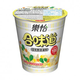 Nissin Cup Noodles Light Soya Milk Soup with Vegetable Flavour 67g x 3 pieces