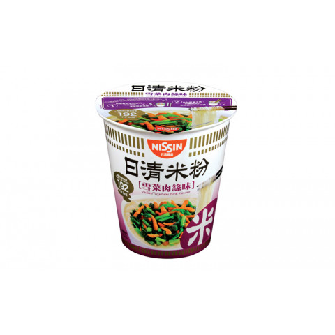 Nissin Rice Vermicelli Cup Type Pickled Vegetable Pork Flavour 64g