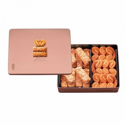 奇華餅家 ギフト アーモンドバーと蝴蝶酥(チョウチョパイ) 21枚