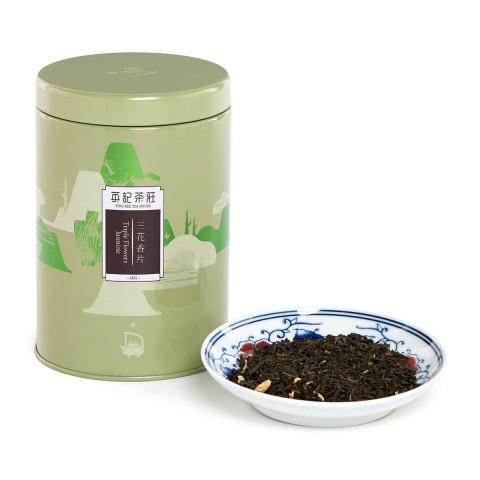 英記茶莊 罐裝茶葉 三花香片 150克