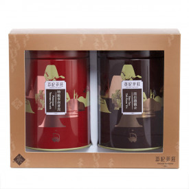 英記茶荘 缶入り茶葉 上等雲南プーアルと南岩鉄観音 各150g
