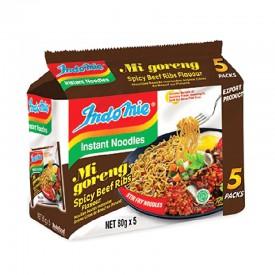 Indomie Mi Goreng Instant Noodle Beef Ribs Flavour 80g x 5 packs