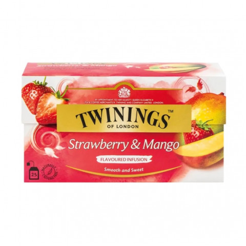 Twinings Strawberry & Mango 25 teabags