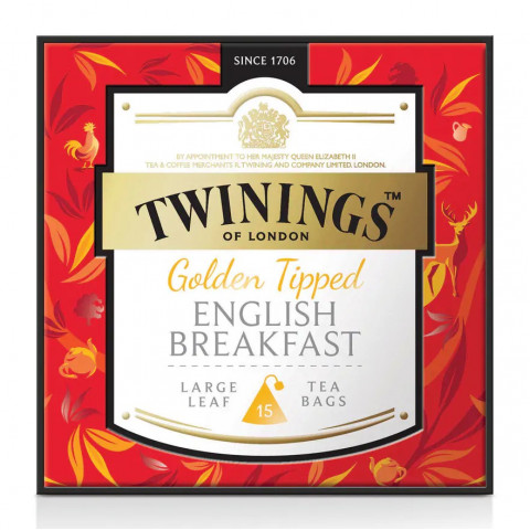 Twinings Large-Leaf Tea Bag Golden Tipped English Breakfast 15 teabags