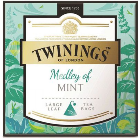 Twinings Large-Leaf Tea Bag Medley of Mint 15 teabags