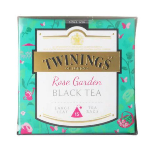 Twinings Large-Leaf Tea Bag Rose Garden Black Tea 15 teabags