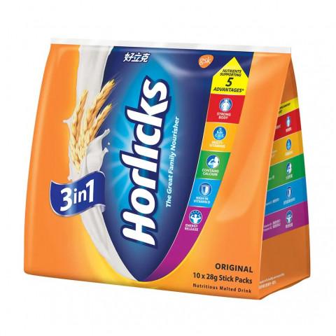 Horlicks Nutritious Malted Drink 28g x 10 stick packs