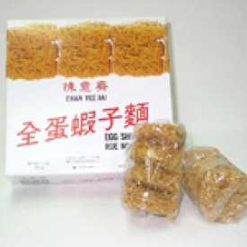 陳意齋 全蛋蝦子麺(全卵&エビの卵が練り込まれた麺) 312g