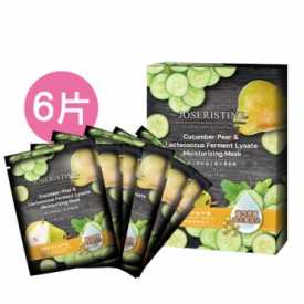 Choi Fung Hong Joseristine Cucumber Pear & Lactococcus Ferment Lysate Moisturizing Mask 6 pieces