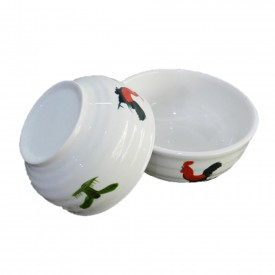 Chicken Pattern Soup Bowl 5.5 inches