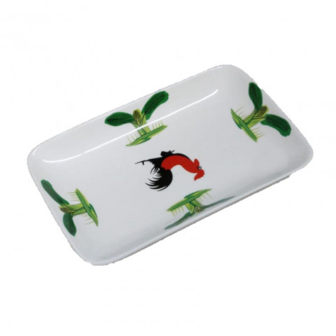 Chicken Pattern Rectangle Plate