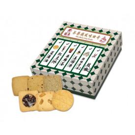 龍島 6種類のクッキー 香港式茶餐廳風味(緑) 16枚