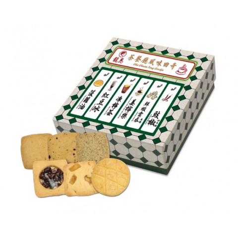 Lucullus Hong Kong Style Cha Chaan Teng Cookie Gift Box Emerald 16 pieces
