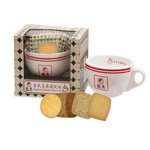 龍島 港式茶餐廳風味曲奇連杯套裝禮盒