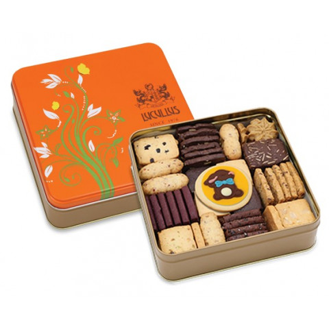 Lucullus Assorted Butter Cookie Gift Tin 86 pieces