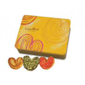 Lucullus Puff Pastry Gift Tin Original & Pumpkin Seed & Strawberry 30 pieces