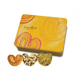 Lucullus Puff Pastry Gift Tin Original & Almond & Hazelnut 30 pieces