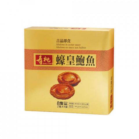 寿桃牌 ギフト 乾麺(汁なし麺) オイスターソースアワビ缶詰 2粒 × 4缶