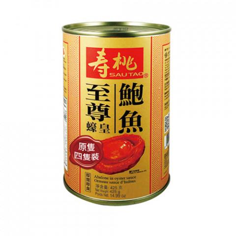 寿桃牌 オイスターソースアワビ缶詰 4粒