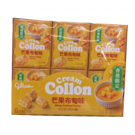 Glico Cream Collon Mango Padding Flavour 6 packs