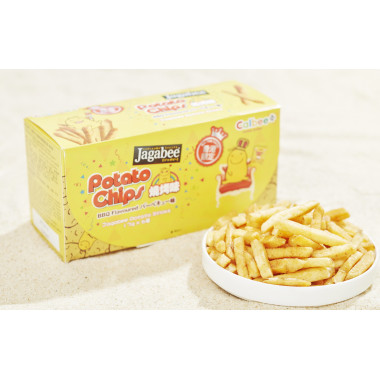 Calbee Jagabee BBQ Flavoured Potato Sticks Premium Box HK Edition 6 packs