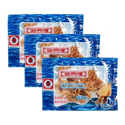 Sze Hing Loong Ladybird Brand Dried Seasoned Cuttlefish 21g x 3 packs